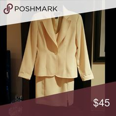Selling this Victoria's Secret dress suit/pale yellow in my Poshmark closet! My username is: lulouperry. #shopmycloset #poshmark #fashion #shopping #style #forsale #Victoria's Secret #Dresses & Skirts