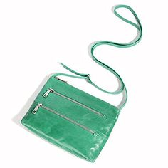 Every girl needs a crossbody in the color of the year. Say hello to Mara in jade.