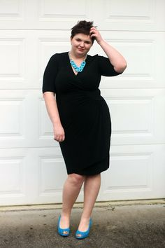Hems for Her Trendy Plus Size Fashion for Women: Brighten Up the Little Black Dress: Neon Edition