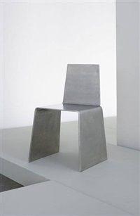 Prototype Steel Furniture chair, 1978  Scott Burton