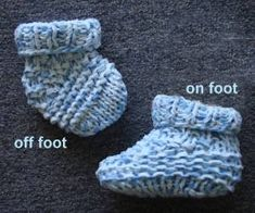 Puffin Baby Hat - Booties - Crystal Palace Yarns - free knit baby  pattern