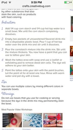 FINALLY FOUND HENNA TATTOO RECIPE!!!SOO EXCITED!!!