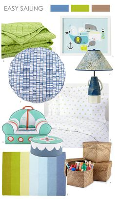 Easy Sailing: Bright green adds a soft feel, and makes it a great option for girls, too!
