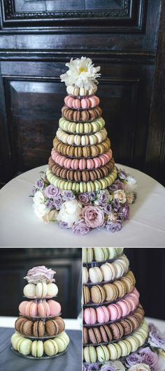 macarons in pink and gold
