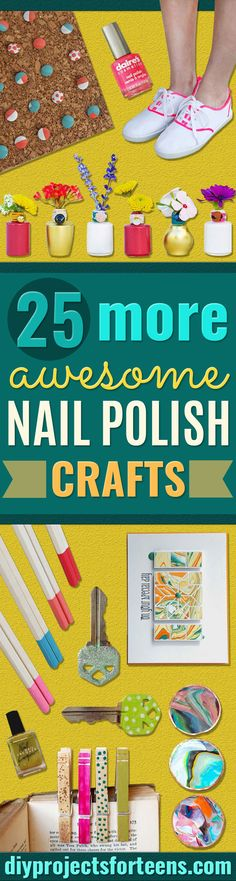 Diy easy crafts for girls nail polish ideas for 2019 Easy Diy Crafts, Diy Arts And Crafts, Diy Crafts To Sell, Easy Crafts, Room Crafts, Crafts Cheap, Art Projects For Teens, Diy Art Projects, Project Ideas