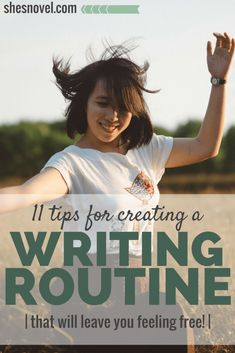#amWriting 11 Tips For Creating a Writing Routine (that will leave you feeling free!) | She's Novel Thesis Writing, Writing Goals, Pre Writing, Fiction Writing, Writing Quotes, Writing Advice, Writing Help, Writing A Book, Writing Guide