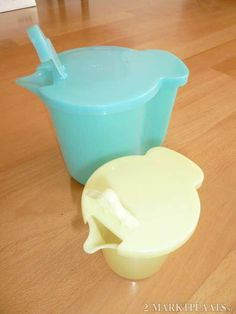 Tupperware sugar/powdered creamer - grew up with these too. Tupperware sugar/powdered creamer - grew up with these too.