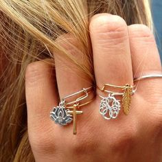 NEW Providence Collection stackable expandable wire rings! #providencecollection #charmedarms #alexandani