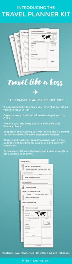 Get ready for your next trip with this comprehensive travel planning kit.