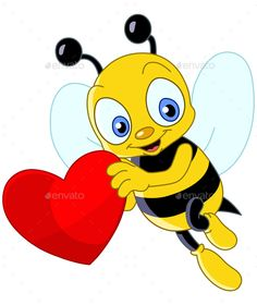 Illustration about Cute bee holding a sweet heart with place for copy/text. Illustration of hold, celebration, funny - 18008048 Honey Bee Cartoon, Cartoon Bee, Cute Cartoon, Cartoon Songs, Bee Clipart, Bee Pictures, Bee Free, Cute Alphabet, Cute Bee