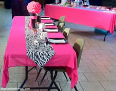 Fashioned4You: Bridal Shower Table Covers