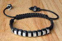 bracelet écrous/macramé