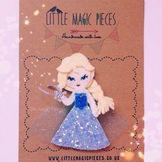 Elsa Frozen Inspired Hair Clip - Dovile @littlemagicpieces | Websta