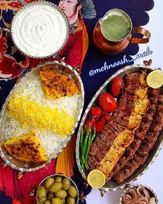 #Chelow_kabab ; the national dish of IRAN