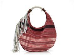 {Estelle Side Fringe Hobo Bag} by JADEtribe - gorgeous organic dyed textiles