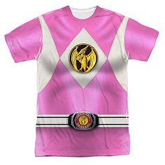 Power Rangers Pink Ranger Uniform All Over Print Front T-Shirt