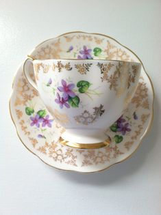 English Bone China Tea Cup and Saucer