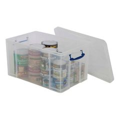 Really Useful Box & Lid - H380 x W440 x D710mm - Pack of 1 - Clear