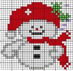 Schema Pupazzo di Neve Tiny Cross Stitch, Xmas Cross Stitch, Cross Stitch Cards, Modern Cross Stitch, Cross Stitch Designs, Cross Stitch Patterns, Stitching On Paper, Cross Stitching, Cross Stitch Embroidery