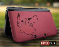 Pikachu Nintendo 3DS, Nintendo 3DS XL vinyl decal stickers - 002a