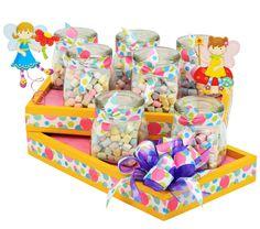 Despachador de dulceros para fiestas infantiles. Barra de dulces