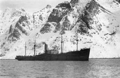 The 8,514 ton German supply ship ALSTER, which was captured by the Royal Navy destroyer HMS ICARUS on 11 April 1940 off Narvik. The ship was brought back to the UK where it was renamed EMPIRE ENDURANCE. Narvik, Merchant Navy, Lappland, Old Port, Junk Drawer, Royal Navy, World War Two, Ww2, Denmark