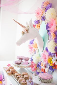 Whimsical Unicorn themed birthday party via Kara's Party Ideas | KarasPartyIdeas.com #whimsicalunicornparty (19)