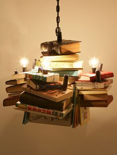Books chandelier.