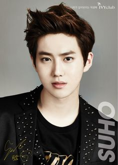 Suho from EXO Another pretty face I wouldn't be able to tell apart if his name wasn't on the photo...