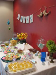 """Lovebirds Bridal Shower Everything from decor to food, check out how to throw a lovebirds shower,  """"Let's Party"""" on Twins in the Cities"""