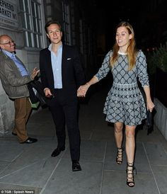 Onwards: After leaving the Notting Hill bash, Beatrice slipped on some stilettos and headed to Mayfair