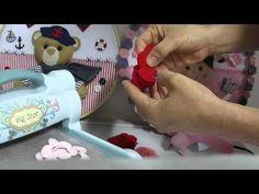 Passo a passo da rosa de feltro 3D da big shot - YouTube