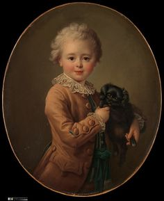 Boy with a Black Spaniel Artist: François Hubert Drouais (French, Paris 1727–1775 Paris)