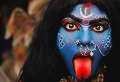 Kali in Shivaratri procession.