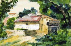 Acheter Tableau 'maison provence' de Paul Cezanne - Achat d'une reproduction sur toile peinte à la main , Reproduction peinture, copie de tableau, reproduction d'oeuvres d'art sur toile