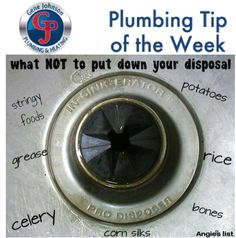 Items like corn silk, celery, bones and grease should never be put down your garbage disposal. Doing so can have dire consequences for your disposal system. When in doubt, throw it out!