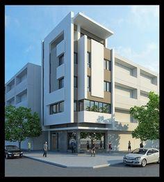 Building Elevation, Building Facade, House Elevation, Building Exterior, Modern House Plans, Modern House Design, Fajardo, Funky Home Decor, High Rise Building