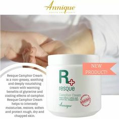 We have the best news! This month, we launched a brand new Resque product! Our Resque Camphor Cream is a non-greasy, soothing and deeply nourishing cream with warming benefits of glycerine and cooling effects of camphor. Resque Camphor Cream helps to intensely moisturise, restore, soften and protect rough, dry and chapped skin. It's perfect for the whole family! #LeoniqueSkincare #Annique #AnniqueOnlineProducts