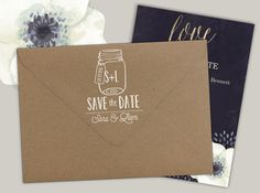 Add your return address in style with these customized rubber address stamps. Featuring a fancy mason jar with a heart and your initials, your address and name. Great for all your mailings as well as a birthday, wedding, engagement or housewarming gift or personalized gift for all occasions! You can use it for your business Cards too.