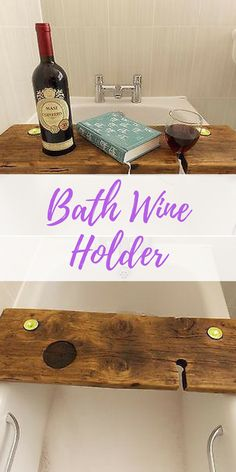 This bath caddy is perfect for relaxing in the bubbles, with a good book, a glass of wine and some ambient lighting. Or maybe a mug of tea instead of the wine. || Etsy || Bathroom Small, Bathroom Modern, Bathroom vintage, Small bathroom ideas, Home decor, Home decor Ideas, Home decor On a budget, Home decor diy, Home decor Ideas on a budget, Home, Home ideas, Home design, Home design inspiration