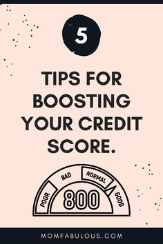 There are a lot of reasons to want to make sure your credit score is excellent, but to a lot of people, improving a credit score might certainly be easier said than done. Take these 5 tips into account and you'll be seeing improvements in no time. #MomLife #MomFabulous #Mom #creditscore #credit #business #savingmoney #finances #loans Parenting Toddlers, Parenting Hacks, Jobs For Women, Thing 1, Positive Discipline, Credit Score, Work From Home Jobs, Ways To Save, Simple Living