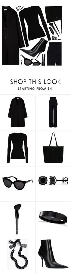 """""""black"""" by sandevapetq ❤ liked on Polyvore featuring Roland Mouret, The Row, TOMS, Christian Dior, Old Navy, Allurez, J.Crew and Balenciaga"""