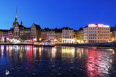 Estocolmo de noche (Suecia)