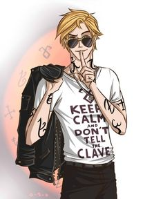 Jace, fanart. Repinning cuz the shirt.