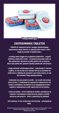 TABLETKI DO ZMYWAREK MAJĄ WIĘCEJ ZASTOSOWAŃ O KTÓRYCH NIE WIESZ - WYKORZYSTAJ JE! Simple Life Hacks, Useful Life Hacks, Hacks Diy, Home Hacks, Diy Cleaning Products, Cleaning Hacks, Pam Pam, Diy Cleaners, Cata