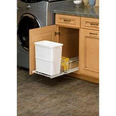Shop Rev-A-Shelf 20-Quart Plastic Pull Out Trash Can at Lowes.com