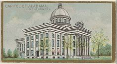 Capitol of Alabama in Montgomery, from the General Government and State Capitol Buildings series (N14) for Allen  Ginter Cigarettes