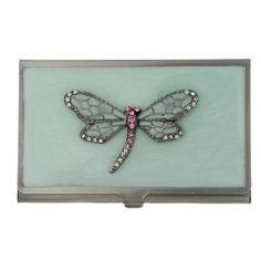 Dragonfly Collection | name or business card holder dragonfly design leonardo collection set ...