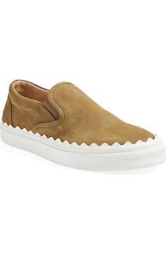 Chloé 'Ivy' Scallop Slip-On Sneaker