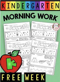 76 Best Kindergarten Morning Work images in 2019